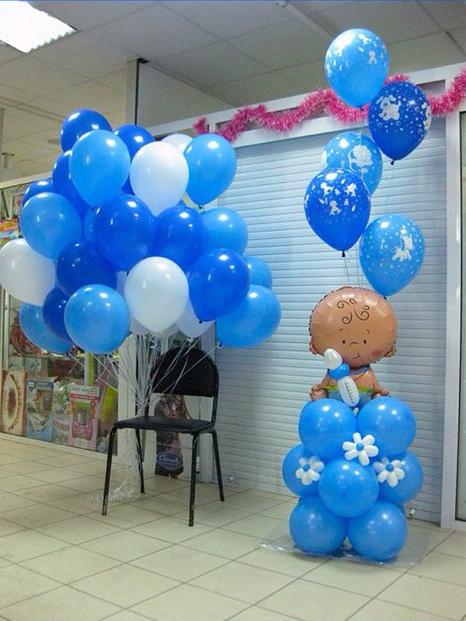 фото украшение шарами на выписку из роддома фото