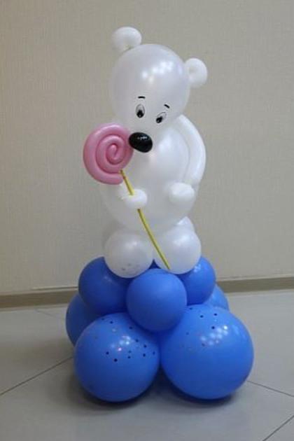 Мишка из воздушных шаров картинка